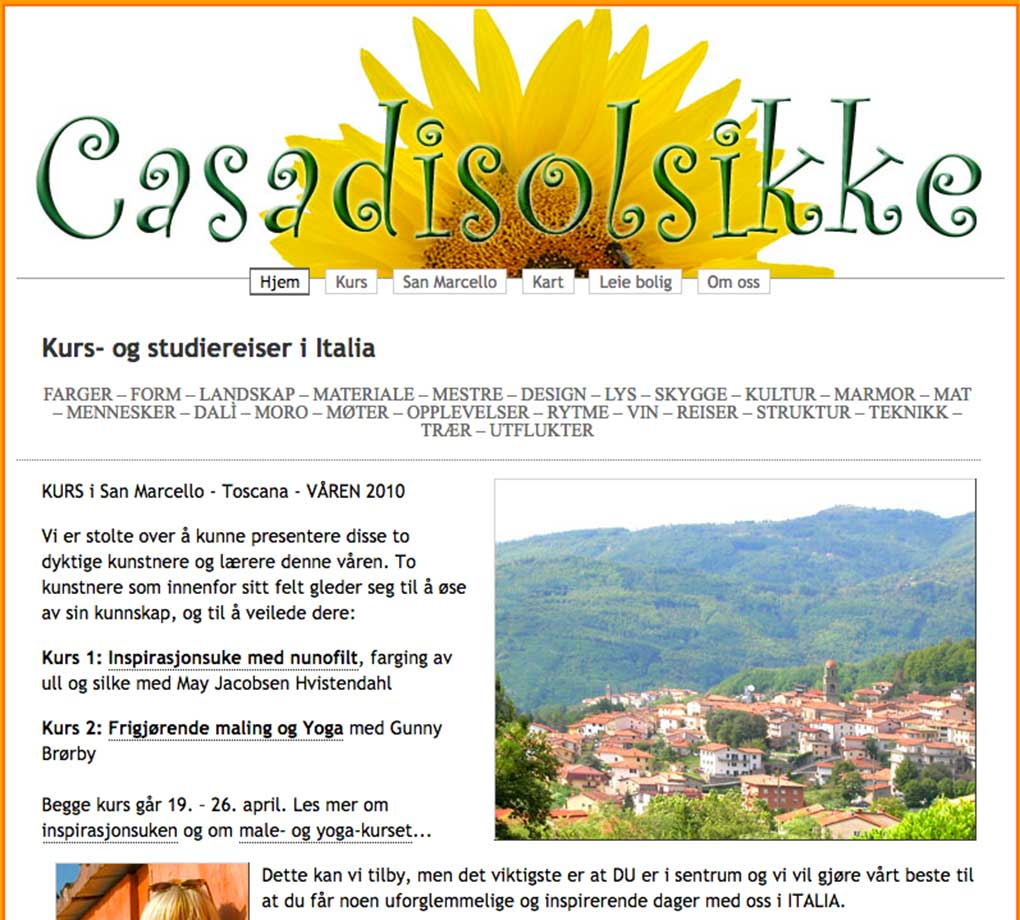 CasaDiSolsikke.com - Webdesign In2it media as