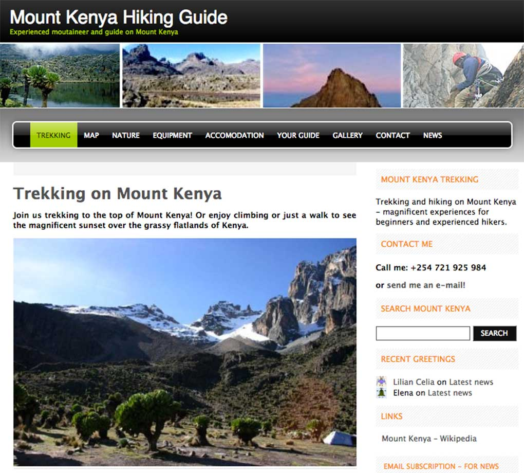 MountKenya - Webdesign In2it media as