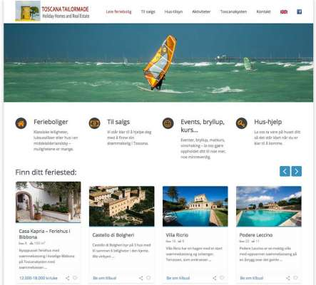 ToscanaTailormade.com - Webdesign In2it media as