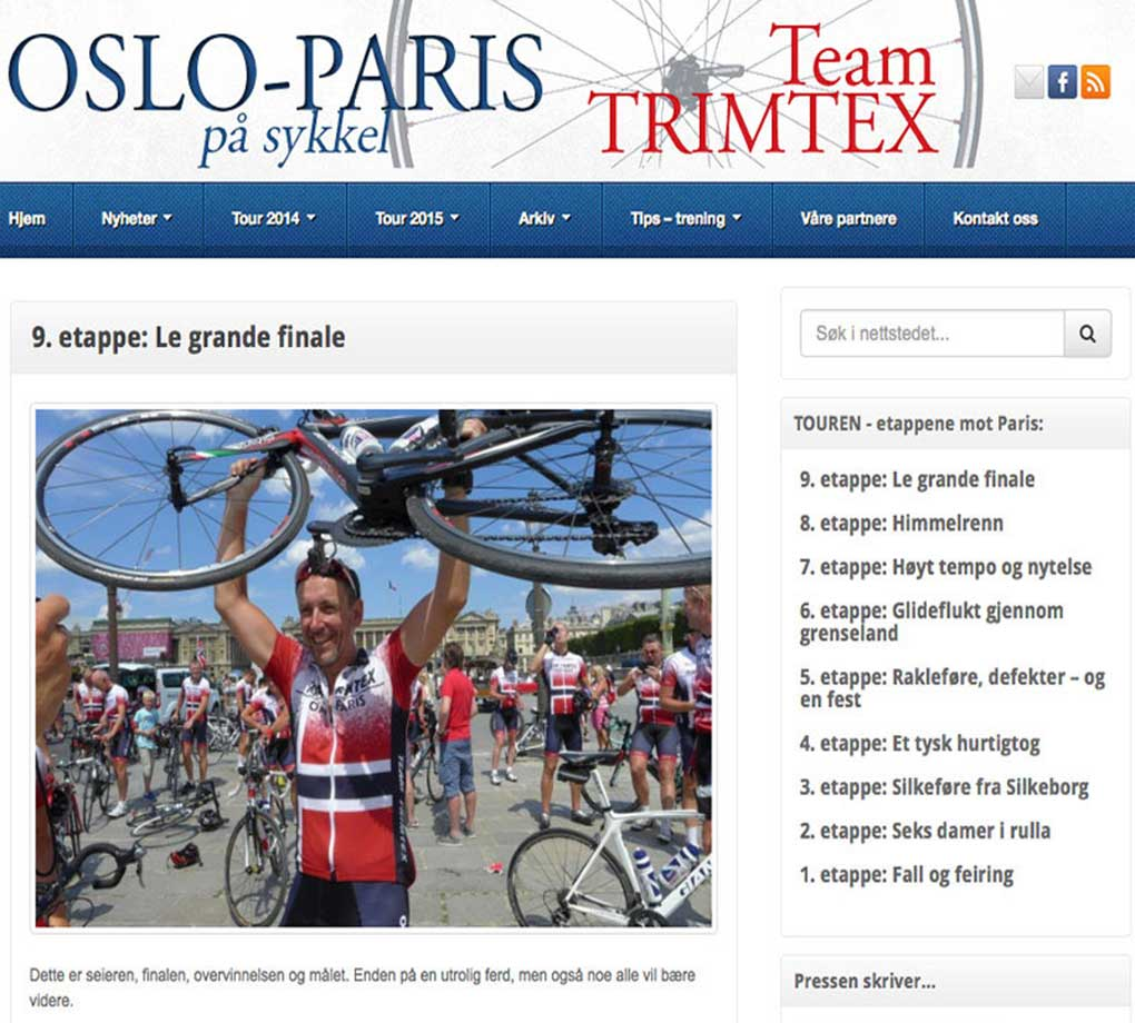 OsloParis - Webdesign In2it media as
