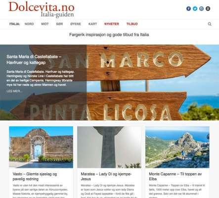 Dolcevita.no - Webdesign In2it media as