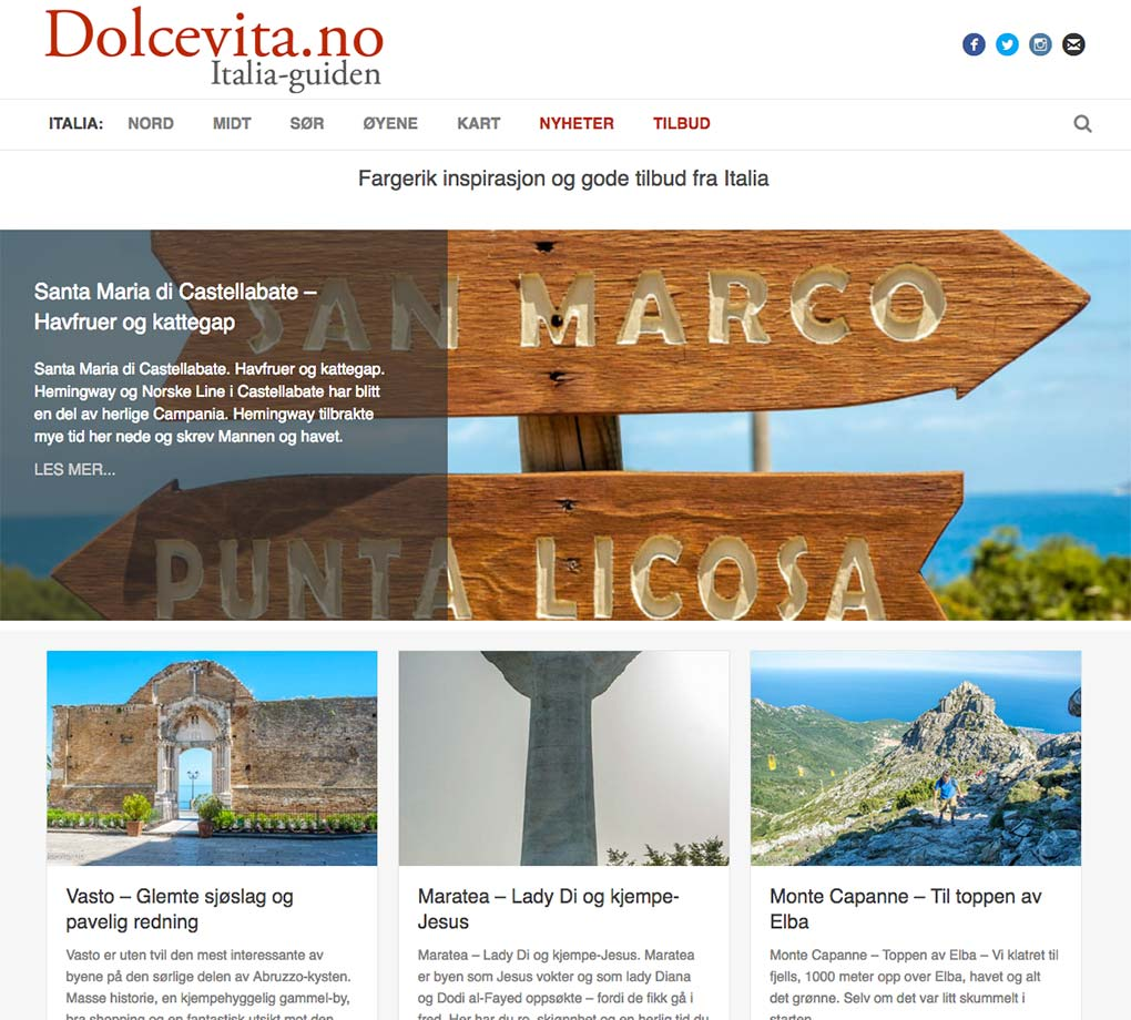 Dolcevita.no - Webdesign In2it media as