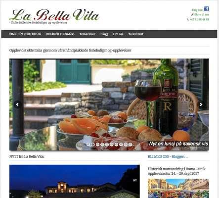 Labellavita.no - webdesign In2it media as