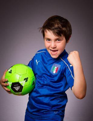 Fotballspiller gutt portrett - foto Lombardo