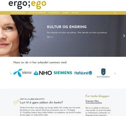 Ergoego.no forside nydesign
