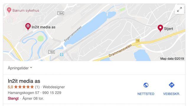 google søkeresultat In2it media as
